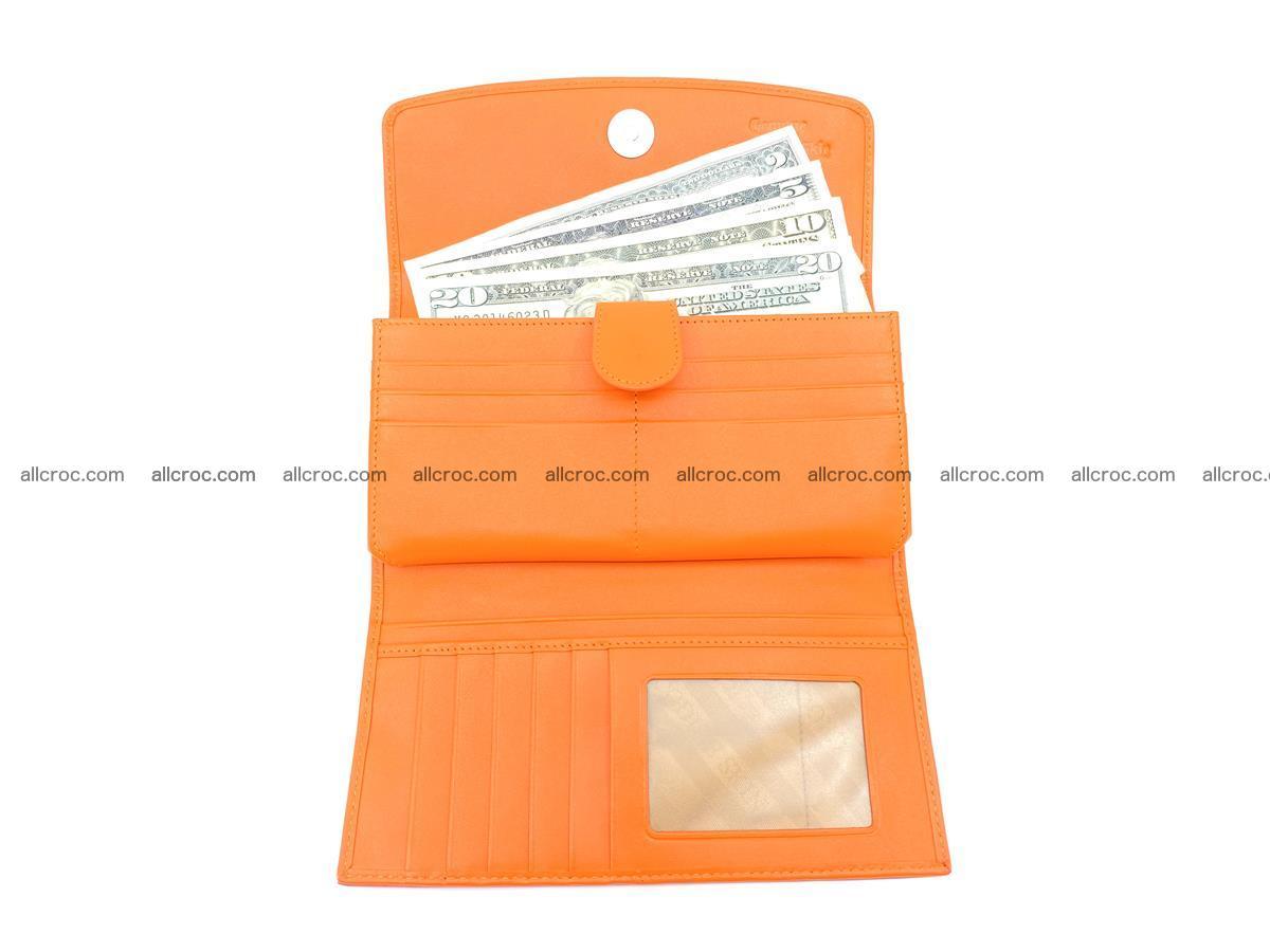 Genuine Crocodile skin trifold wallet, long wallet for women 481 Foto 4