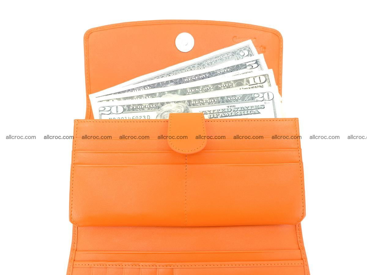 Genuine Crocodile skin trifold wallet, long wallet for women 481 Foto 5