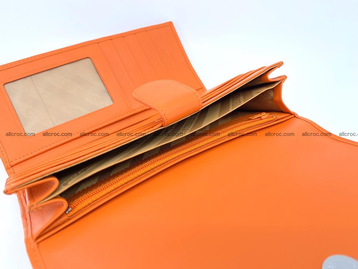 Genuine Crocodile skin trifold wallet, long wallet for women 481 Foto 6