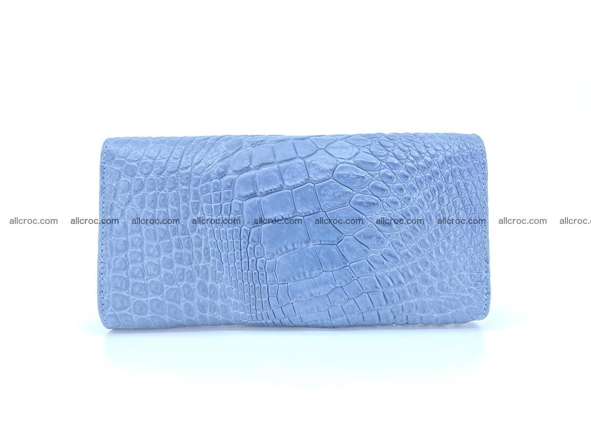 Genuine Crocodile skin trifold wallet, long wallet for women 475 Foto 1