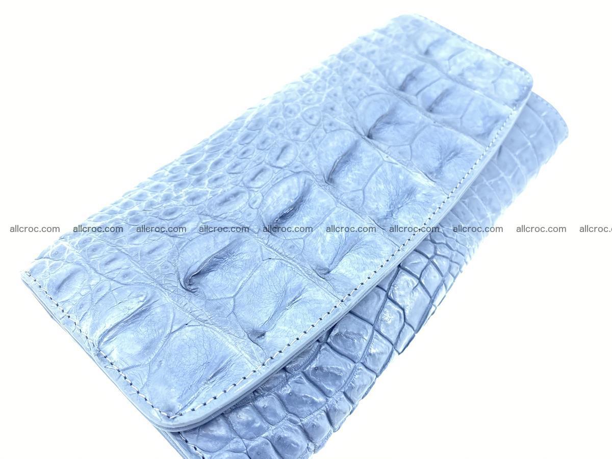 Genuine Crocodile skin trifold wallet, long wallet for women 475 Foto 2