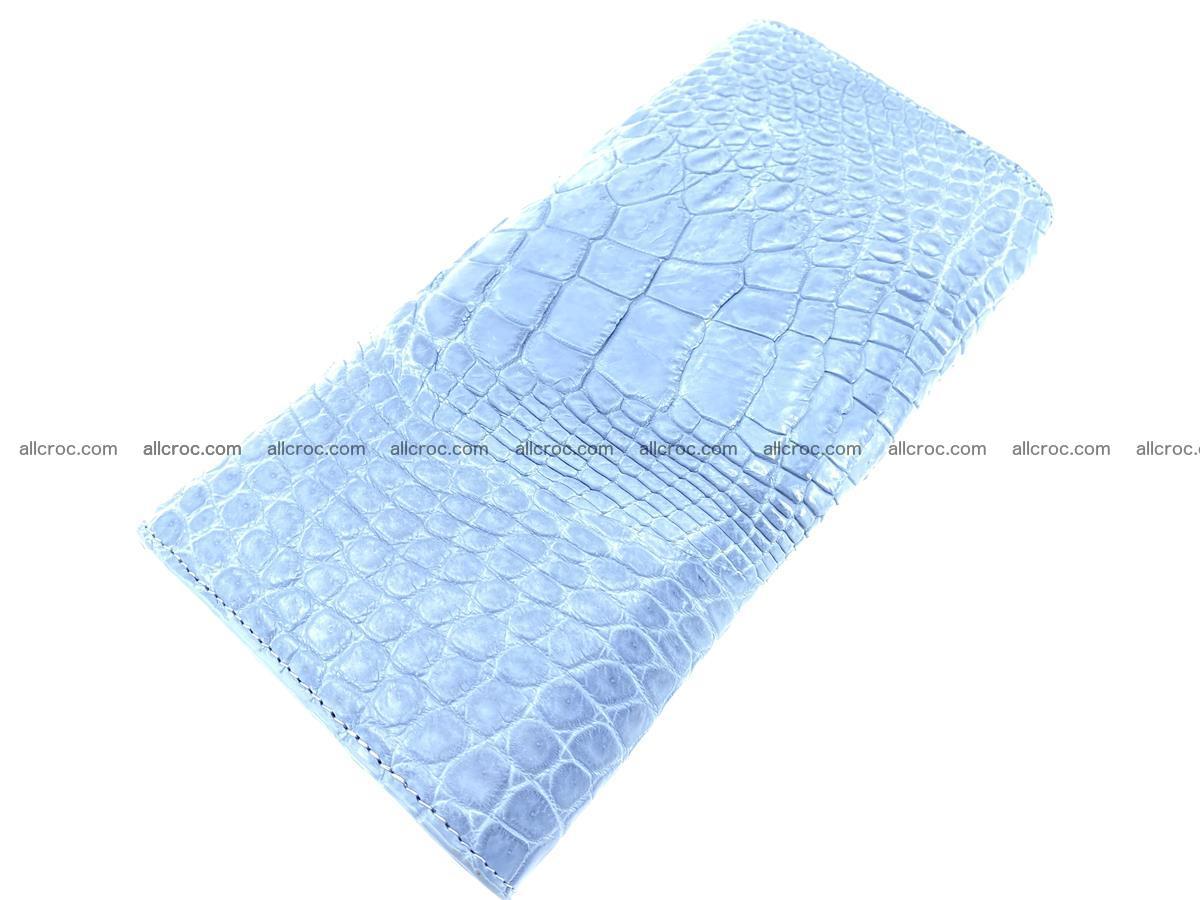 Genuine Crocodile skin trifold wallet, long wallet for women 475 Foto 3