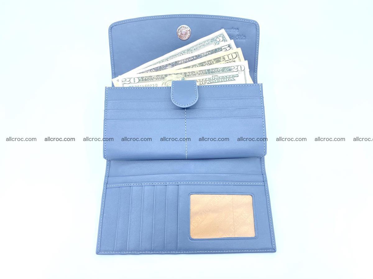 Genuine Crocodile skin trifold wallet, long wallet for women 475 Foto 4