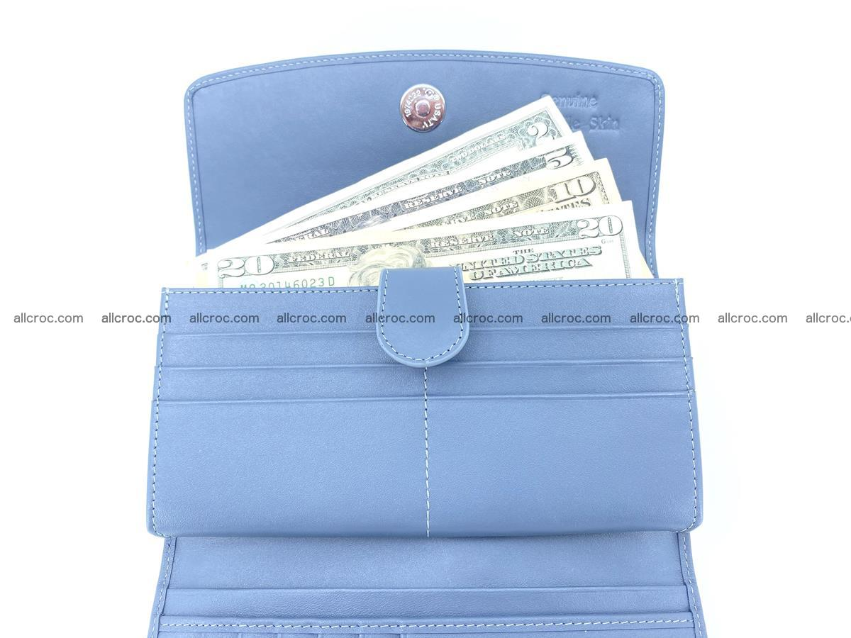 Genuine Crocodile skin trifold wallet, long wallet for women 473 Foto 6