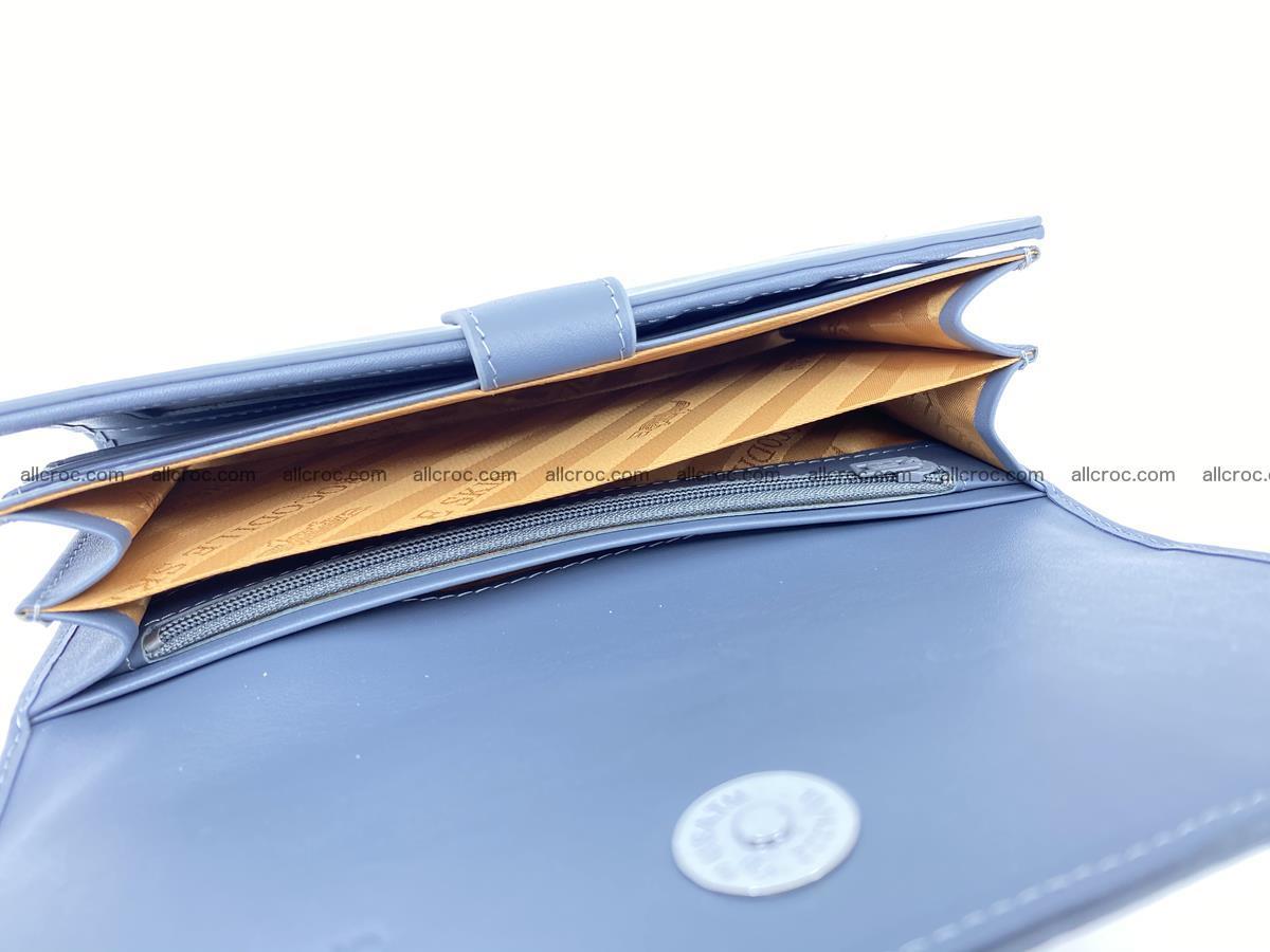 Genuine Crocodile skin trifold wallet, long wallet for women 475 Foto 6