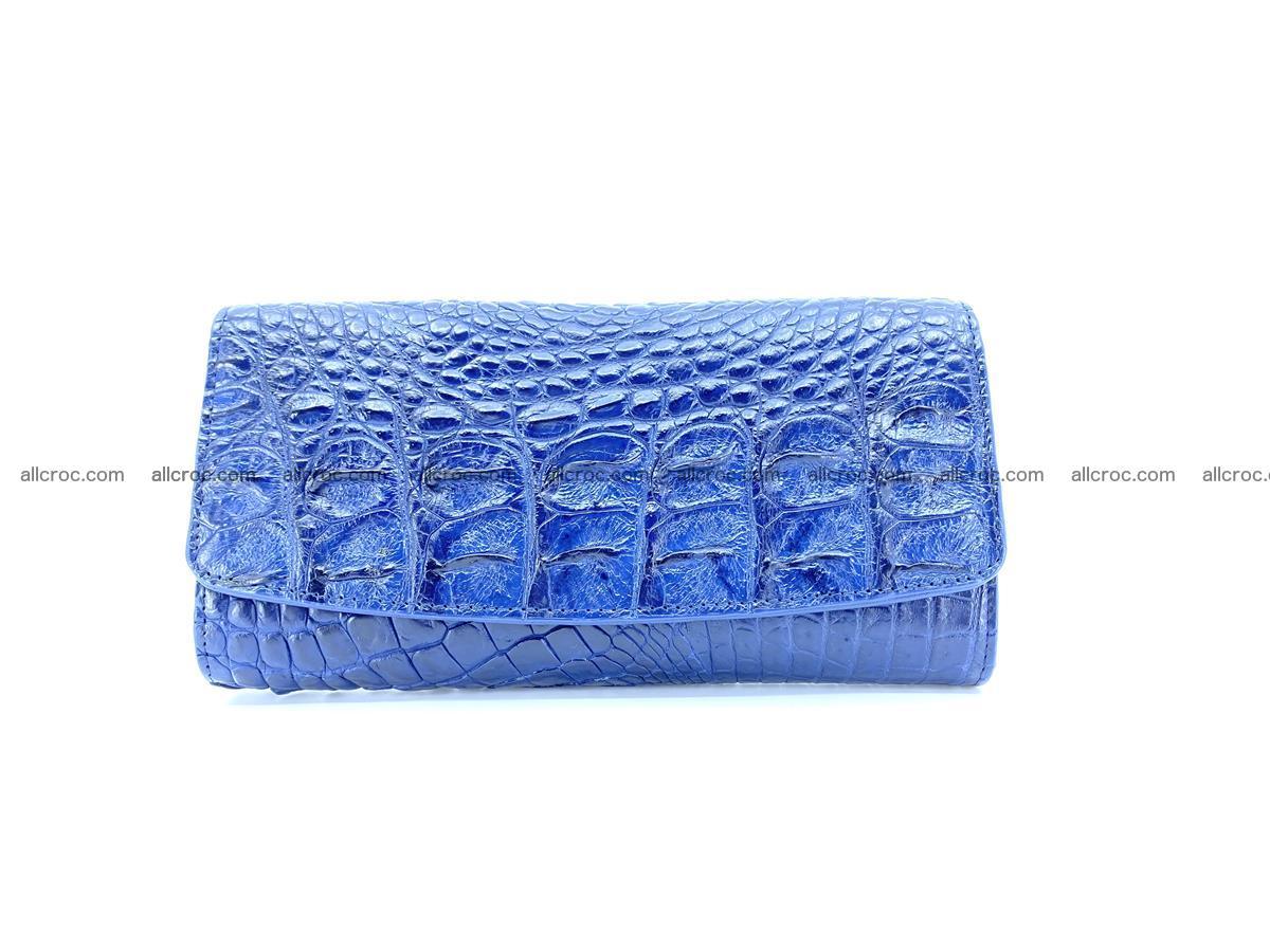 Genuine Crocodile skin trifold wallet, long wallet for women 472 Foto 0