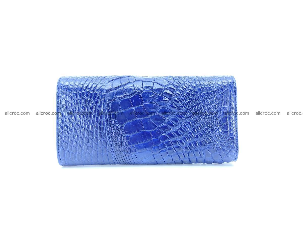 Genuine Crocodile skin trifold wallet, long wallet for women 472 Foto 1
