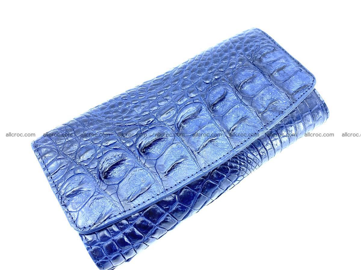 Genuine Crocodile skin trifold wallet, long wallet for women 472 Foto 2
