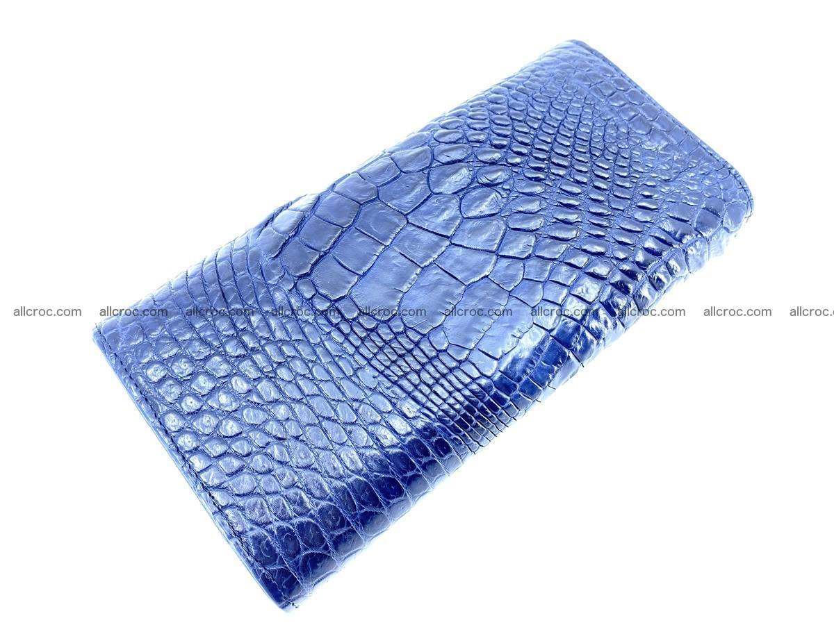 Genuine Crocodile skin trifold wallet, long wallet for women 472 Foto 3