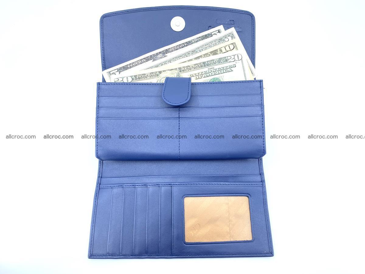 Genuine Crocodile skin trifold wallet, long wallet for women 472 Foto 4