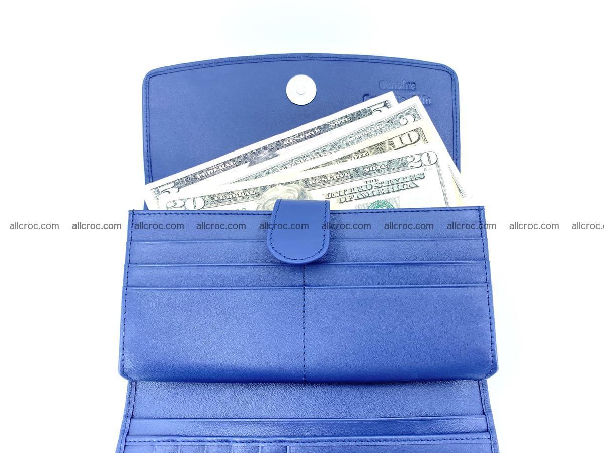 Genuine Crocodile skin trifold wallet, long wallet for women 470 Foto 6