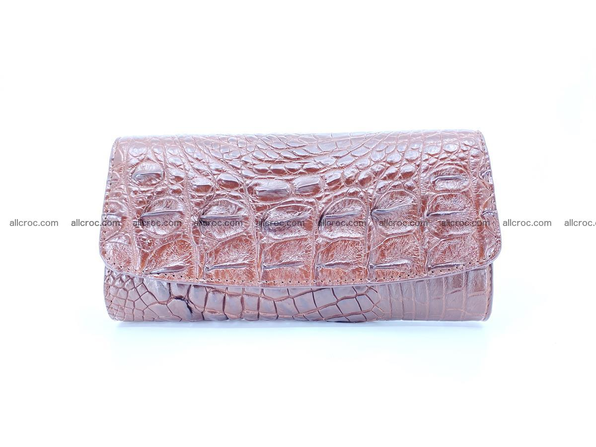 Genuine Crocodile skin trifold wallet, long wallet for women from 464 Foto 0