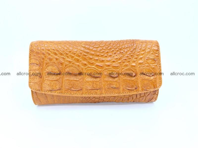 Genuine Crocodile skin trifold wallet, long wallet for women 480