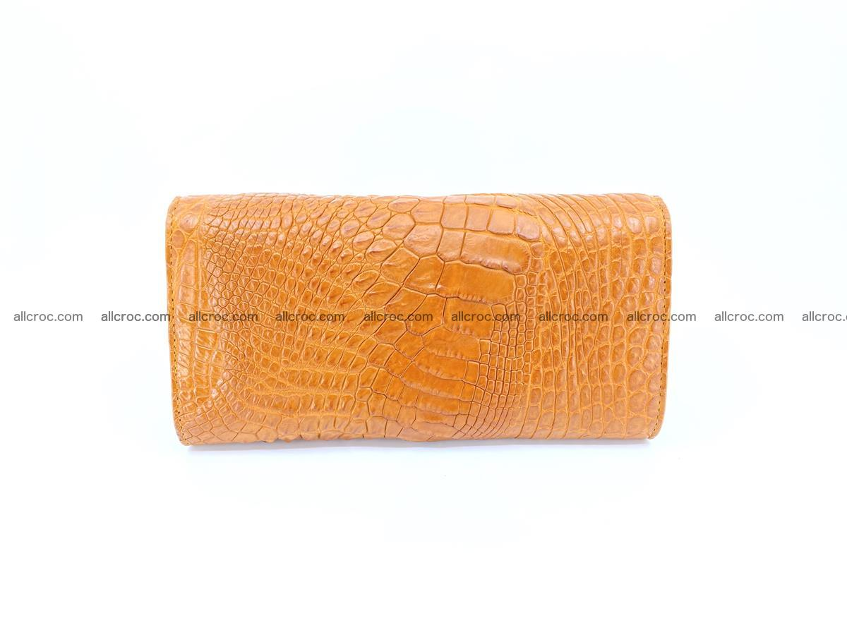 Genuine Crocodile skin trifold wallet, long wallet for women 480 Foto 1