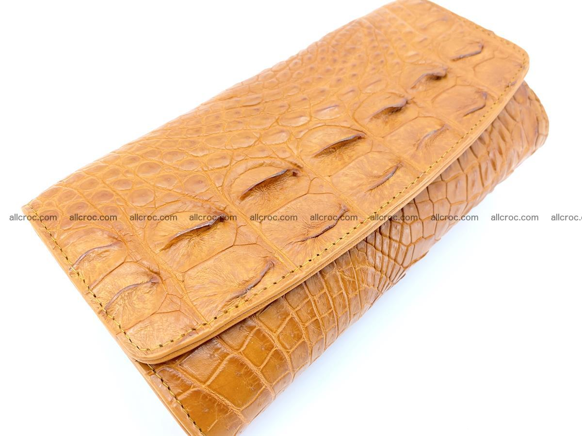 Genuine Crocodile skin trifold wallet, long wallet for women 480 Foto 2