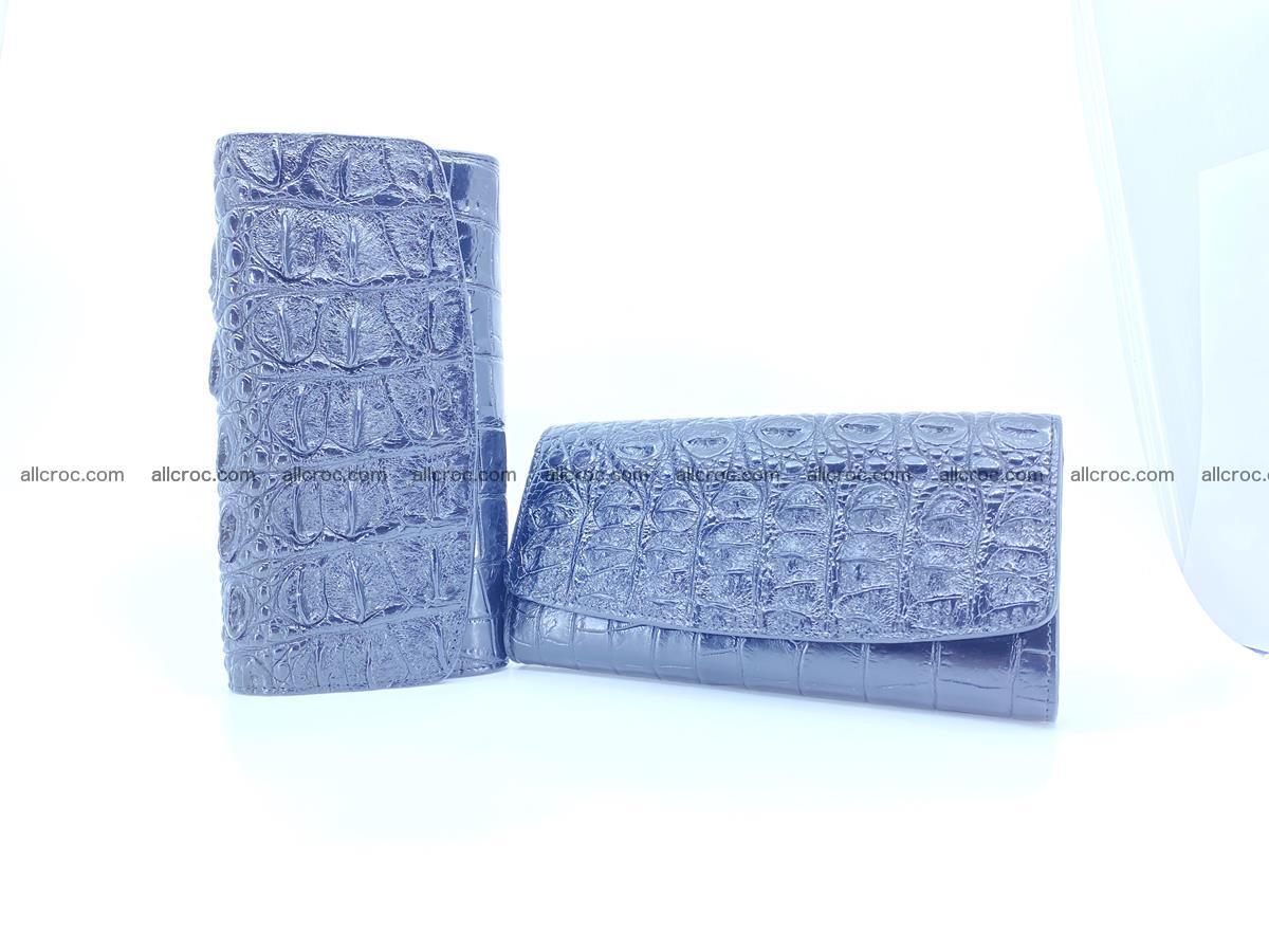 Genuine Crocodile skin trifold wallet, long wallet for women 466 Foto 9