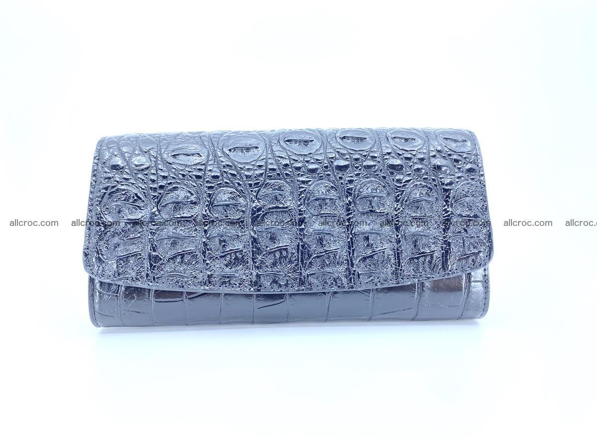 Genuine Crocodile skin trifold wallet, long wallet for women 466 Foto 0