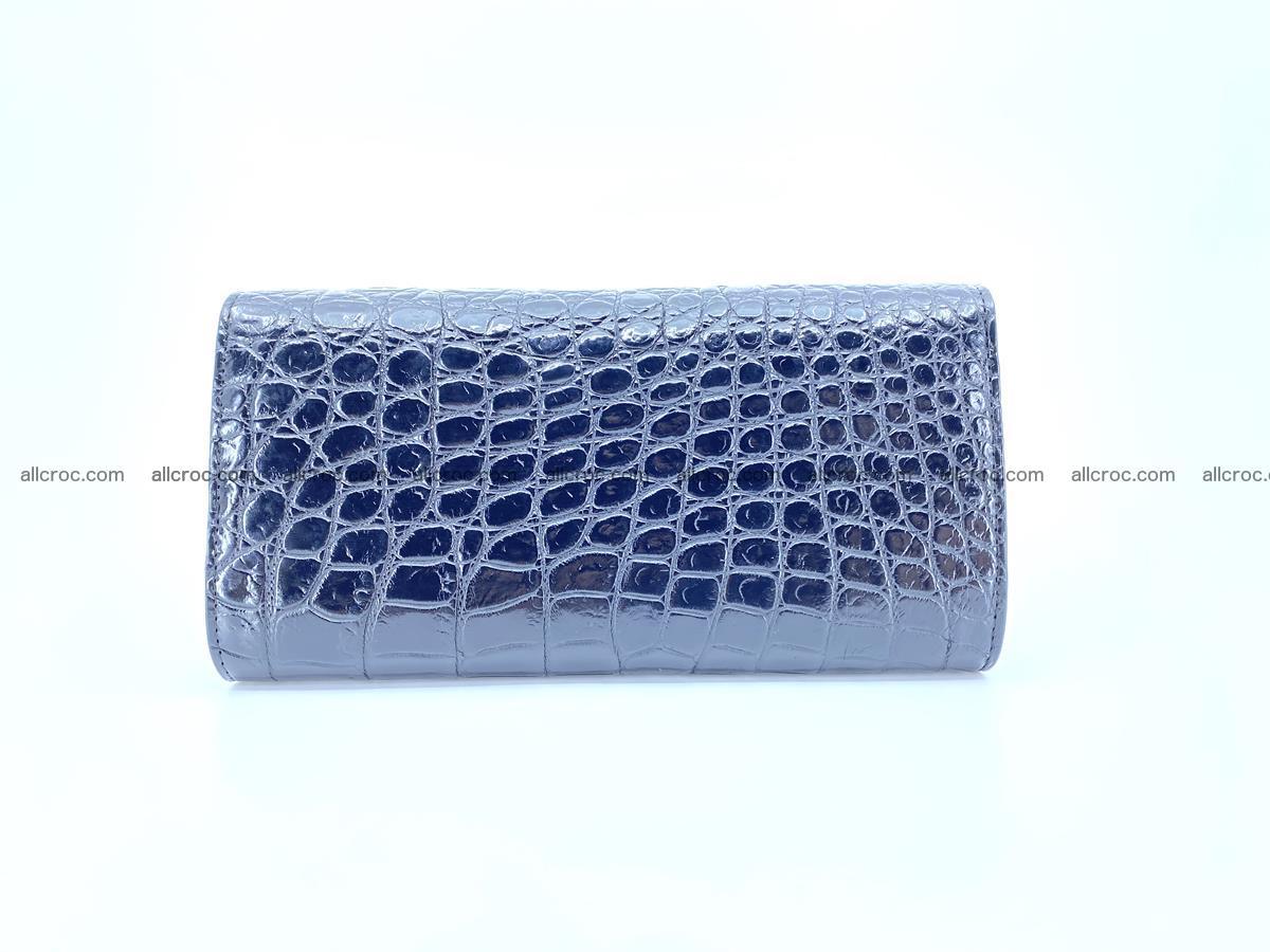 Genuine Crocodile skin trifold wallet, long wallet for women 466 Foto 1