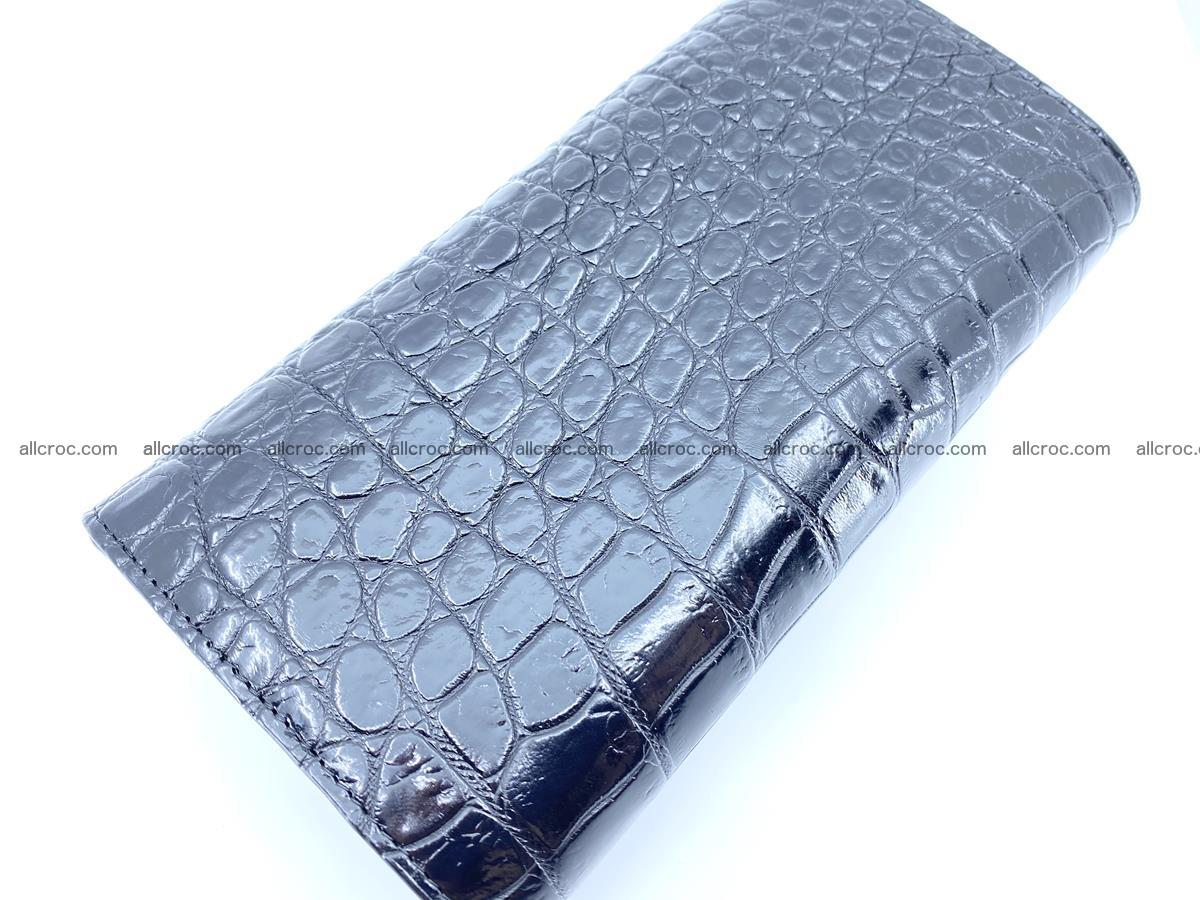 Genuine Crocodile skin trifold wallet, long wallet for women 466 Foto 4