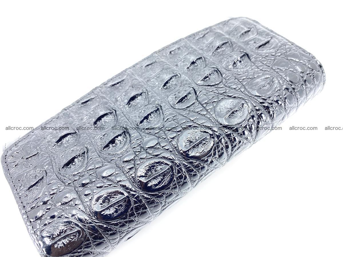 Genuine Crocodile skin trifold wallet, long wallet for women 466 Foto 3