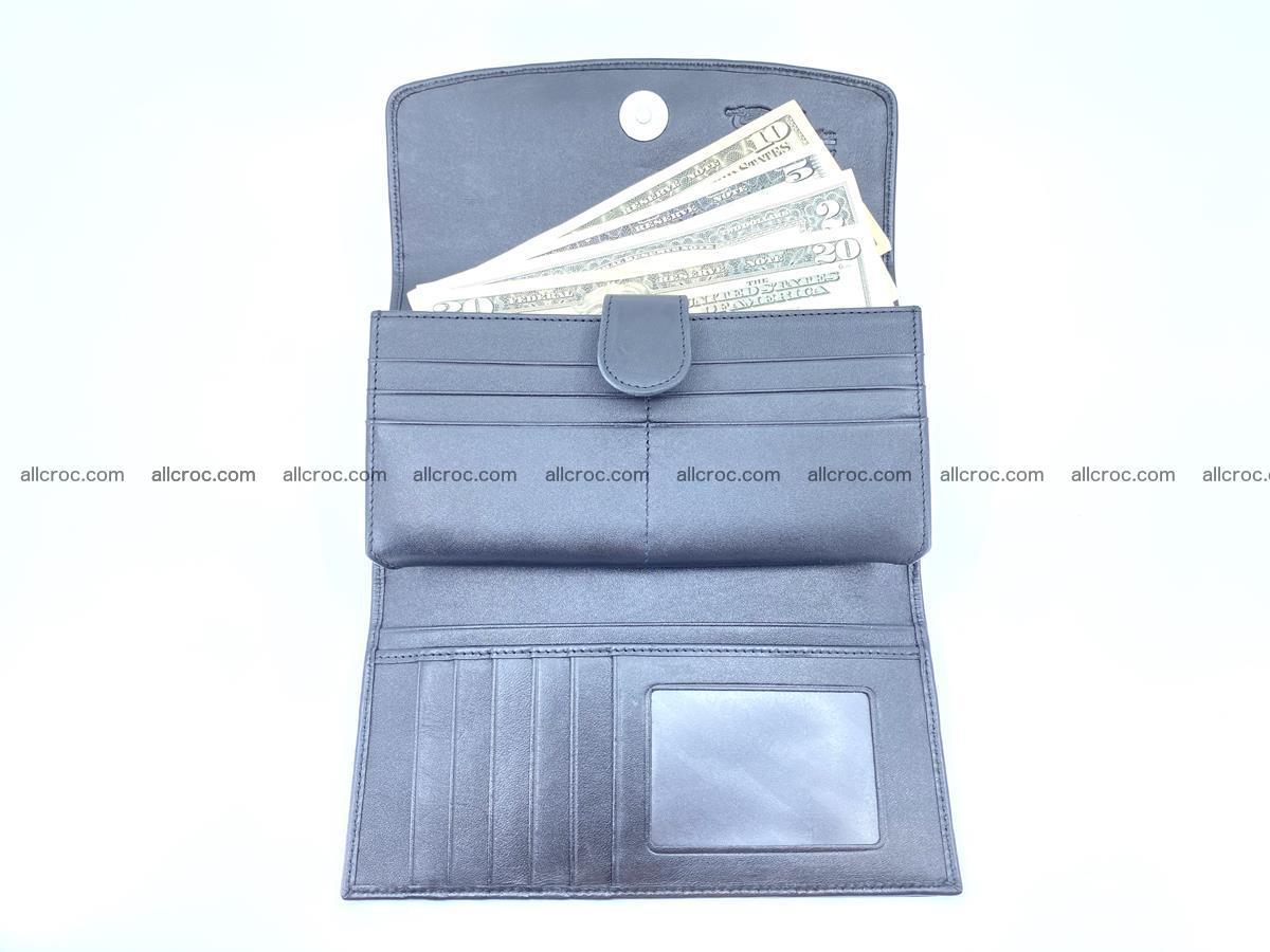 Genuine Crocodile skin trifold wallet, long wallet for women 466 Foto 6