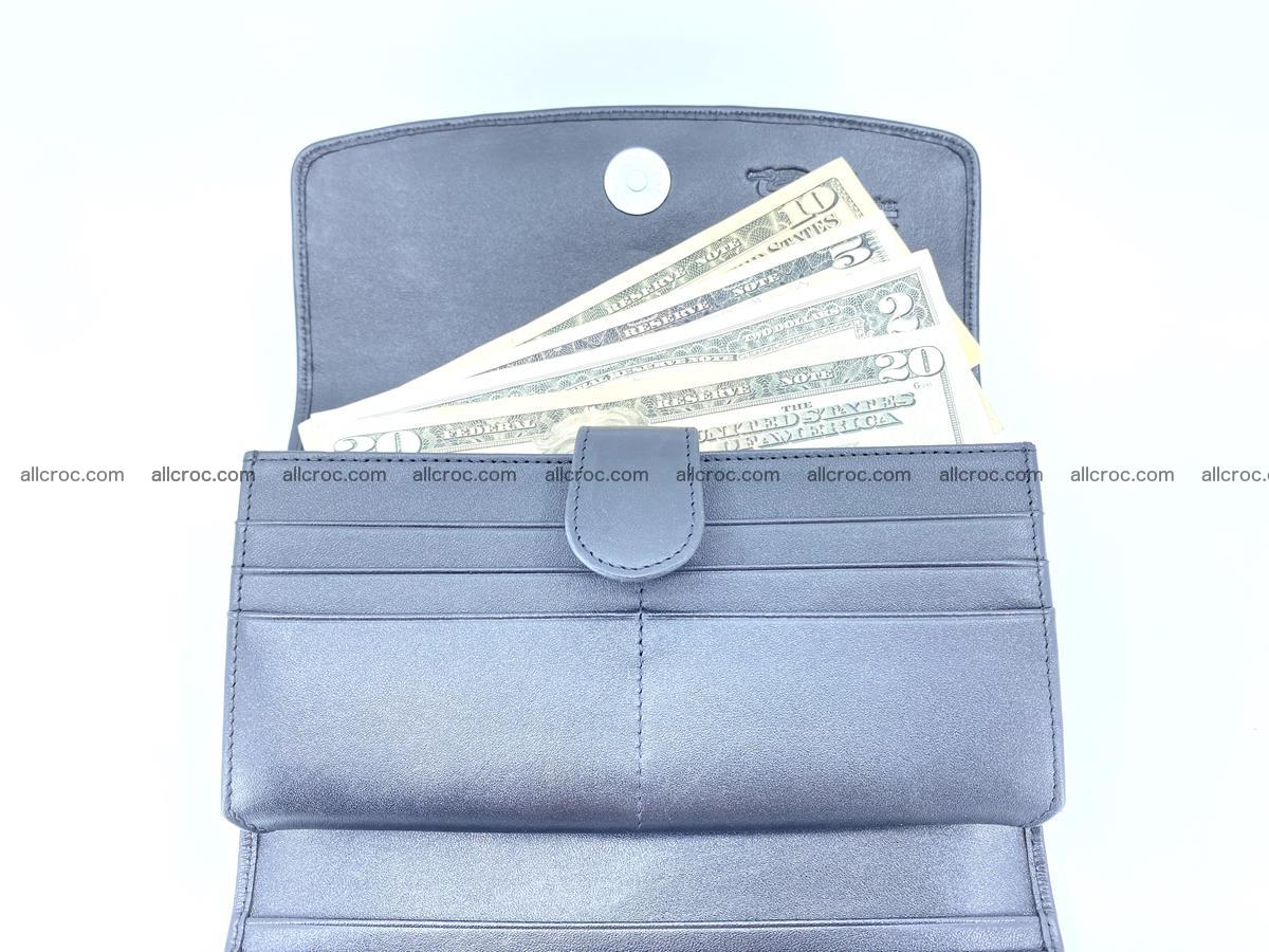 Genuine Crocodile skin trifold wallet, long wallet for women 466 Foto 7