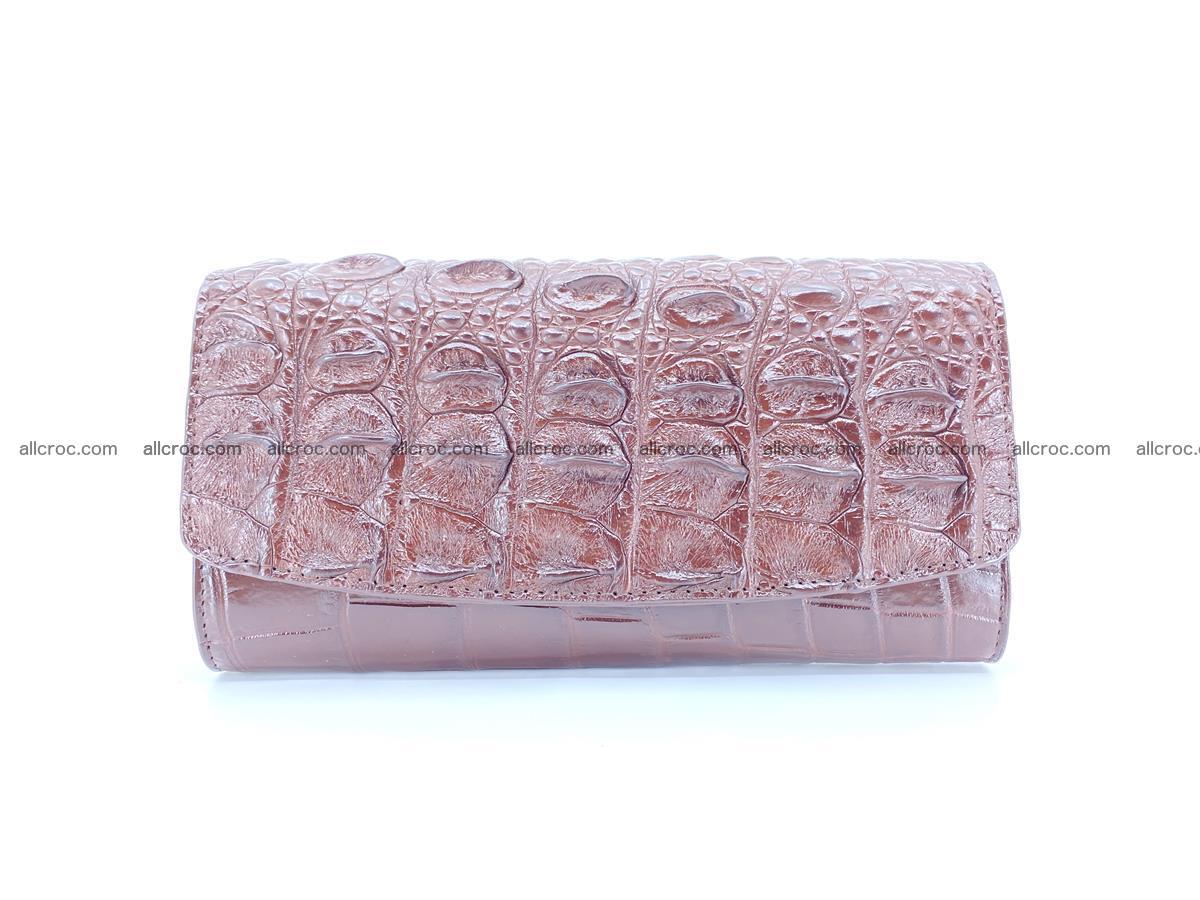 Genuine Crocodile skin trifold wallet, long wallet for women 462 Foto 0