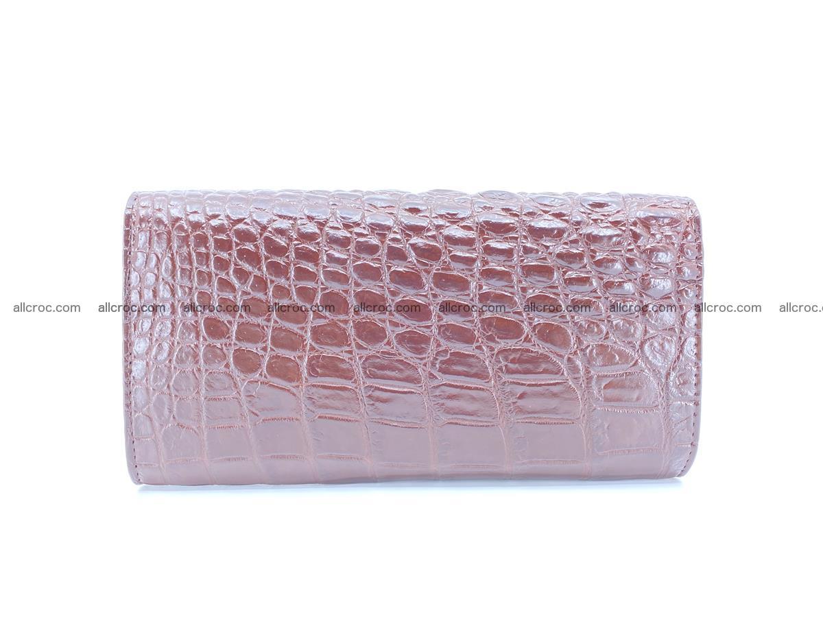 Genuine Crocodile skin trifold wallet, long wallet for women 462 Foto 1