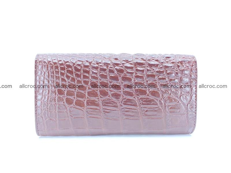 Genuine Crocodile skin trifold wallet, long wallet for women 462