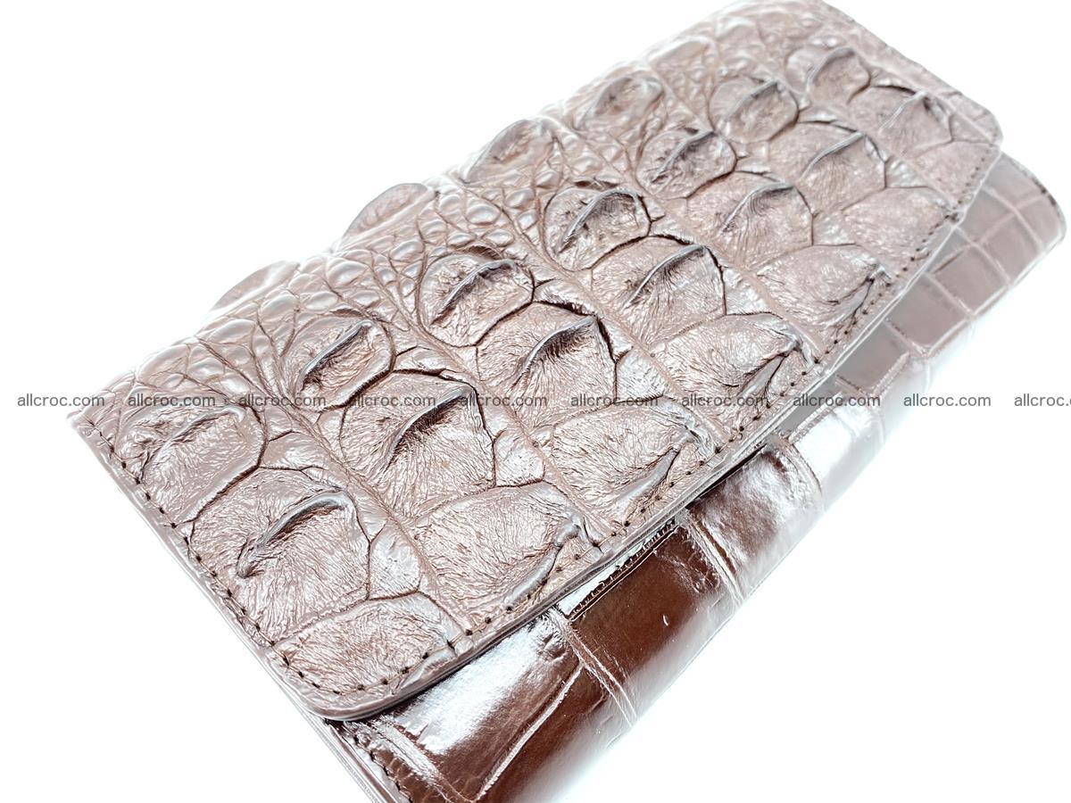 Genuine Crocodile skin trifold wallet, long wallet for women 462 Foto 2