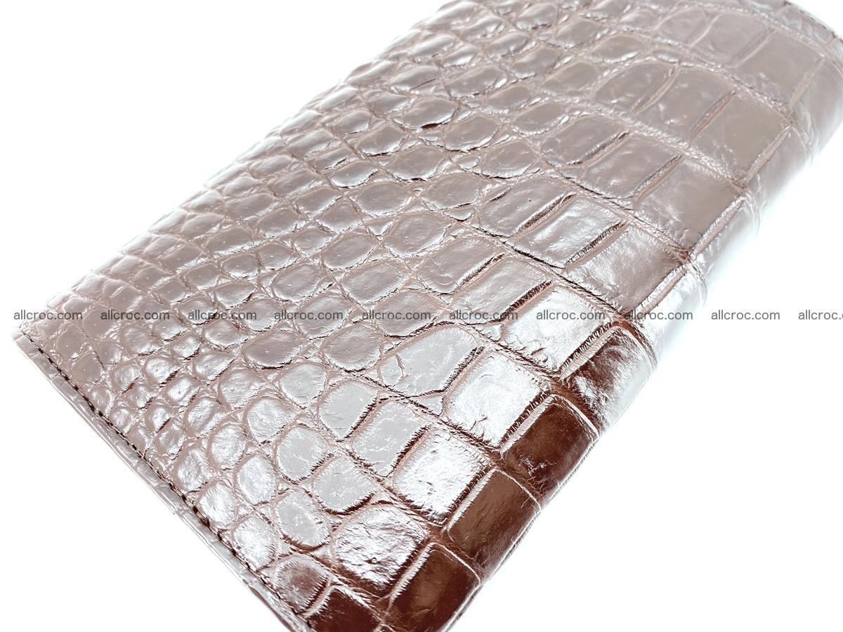 Genuine Crocodile skin trifold wallet, long wallet for women 462 Foto 4