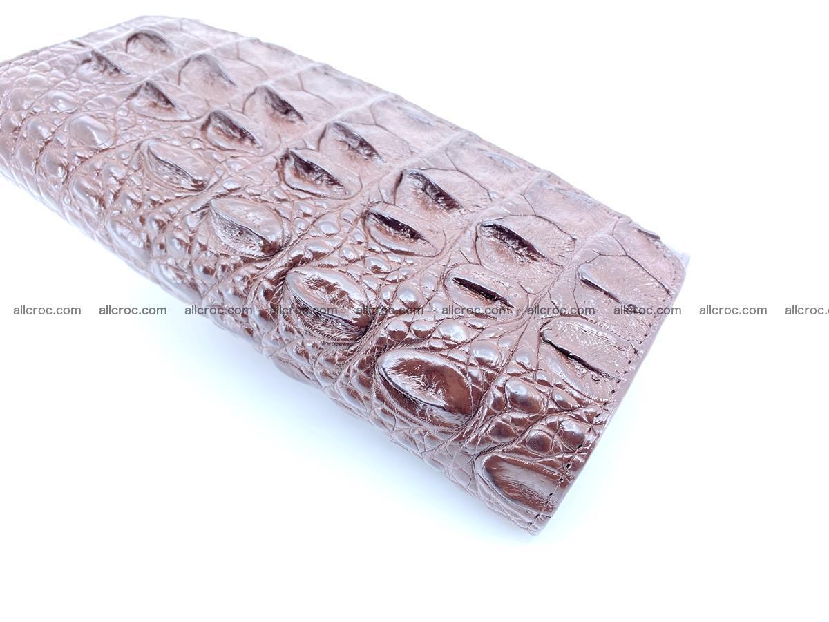 Genuine Crocodile skin trifold wallet, long wallet for women 462 Foto 3
