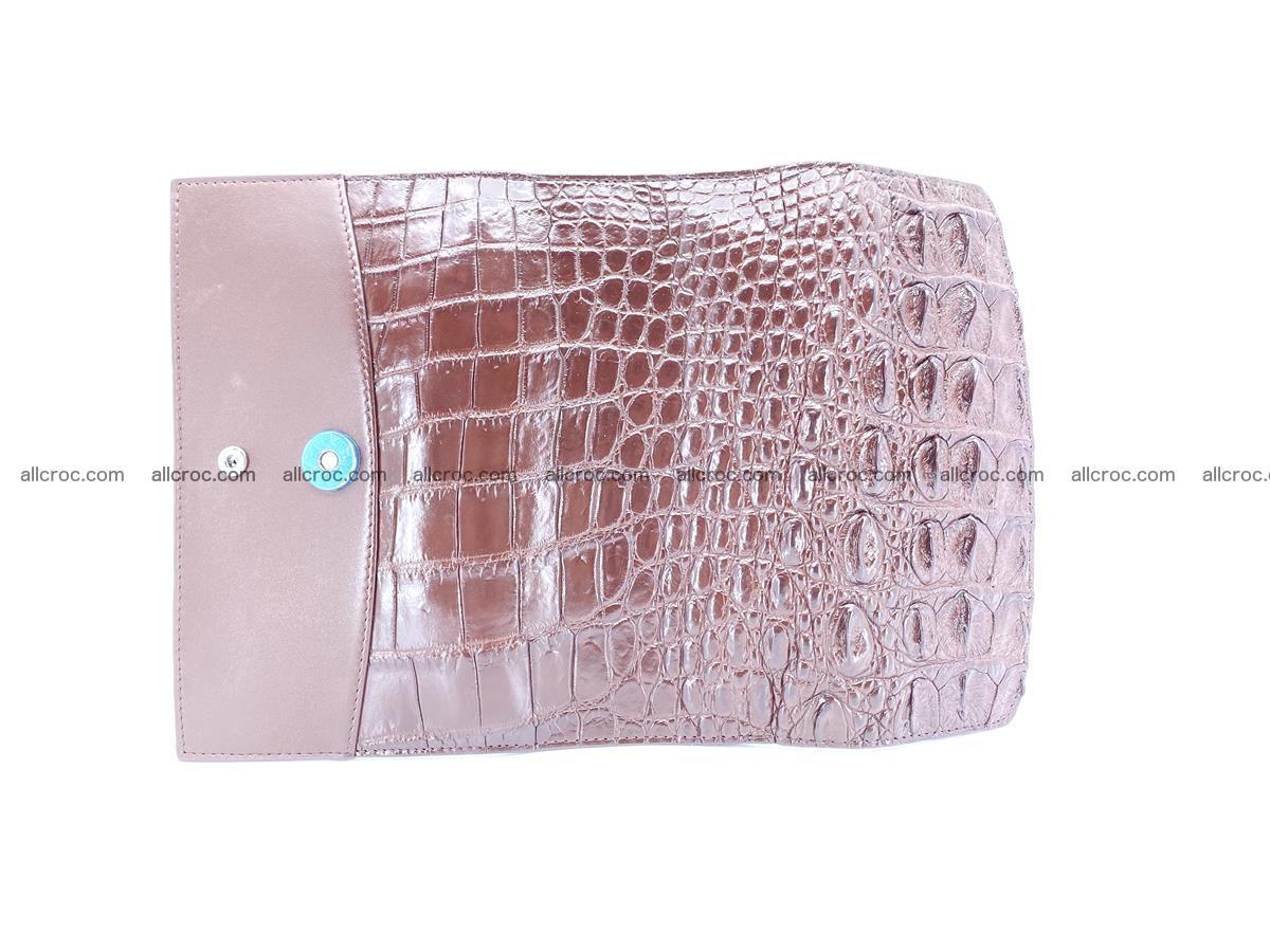 Genuine Crocodile skin trifold wallet, long wallet for women 462 Foto 9