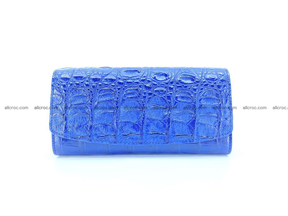 Genuine Crocodile skin trifold wallet, long wallet for women 470 Foto 0