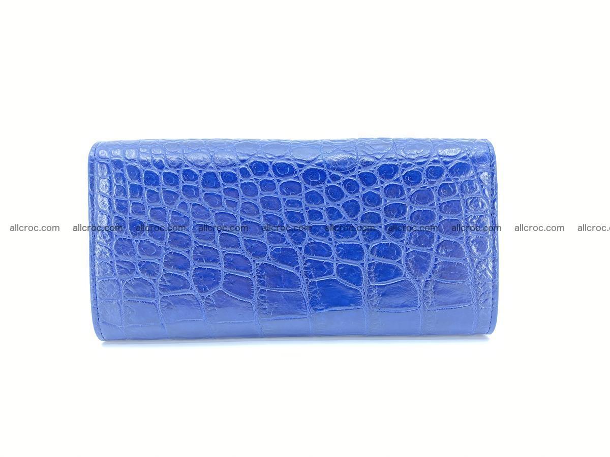 Genuine Crocodile skin trifold wallet, long wallet for women 470 Foto 1