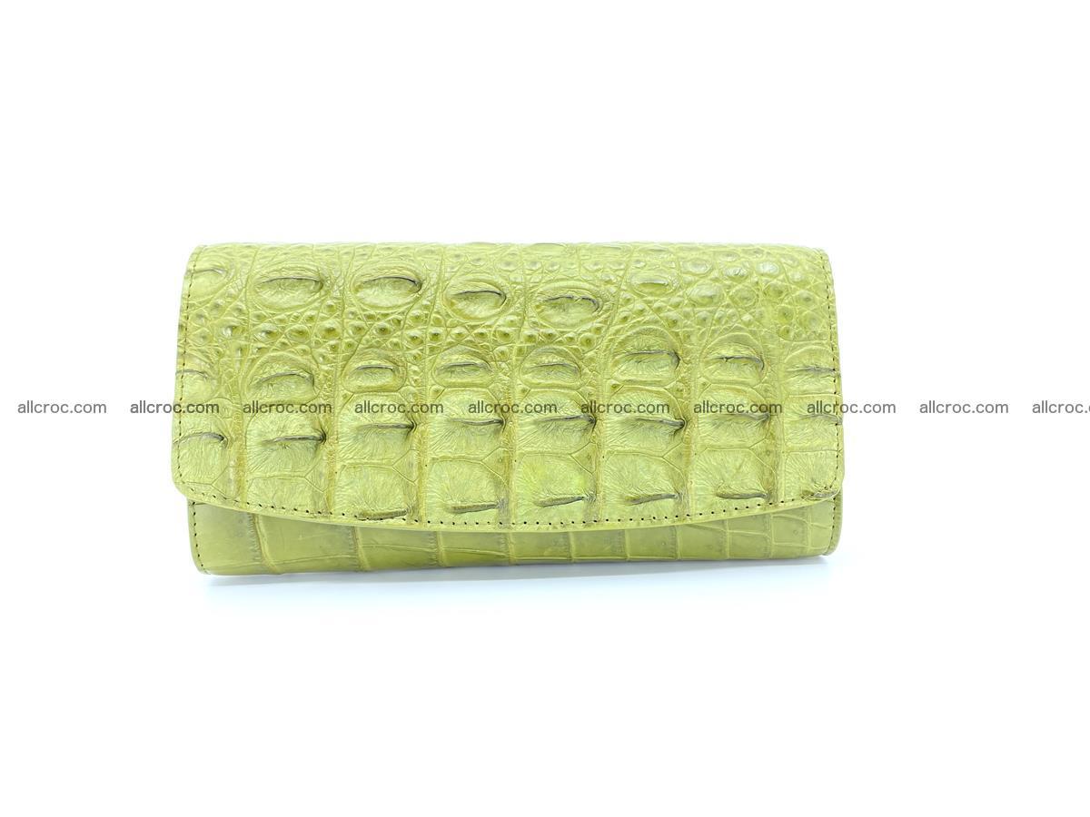 Genuine Crocodile skin trifold wallet, long wallet for women 482 Foto 0