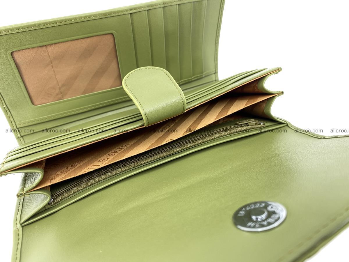 Genuine Crocodile skin trifold wallet, long wallet for women 482 Foto 7