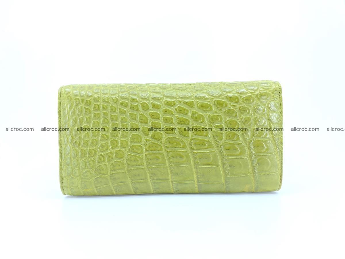 Genuine Crocodile skin trifold wallet, long wallet for women 482 Foto 1