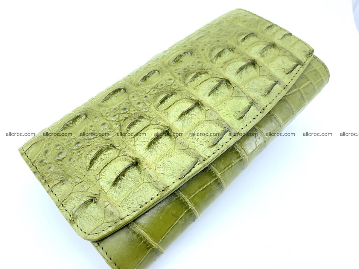 Genuine Crocodile skin trifold wallet, long wallet for women 482 Foto 2