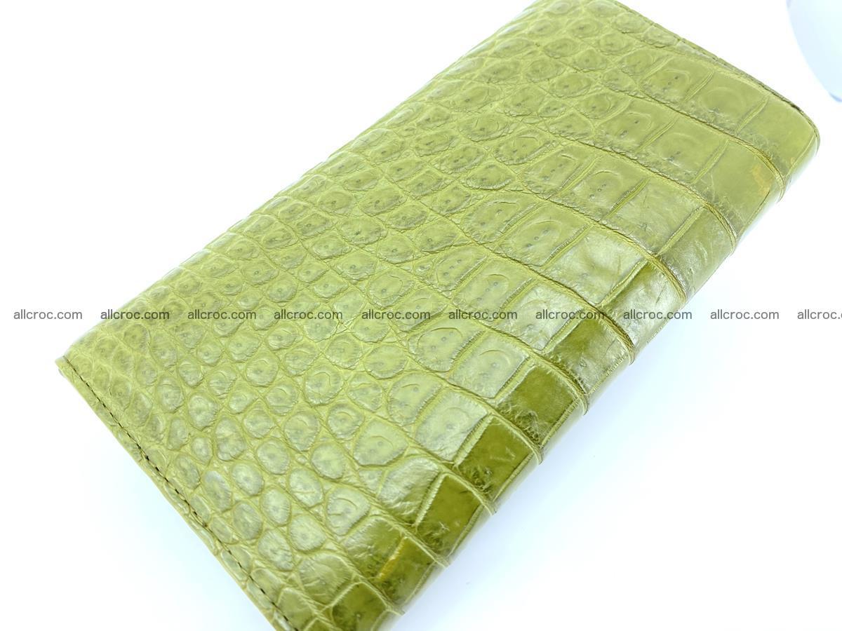 Genuine Crocodile skin trifold wallet, long wallet for women 482 Foto 3