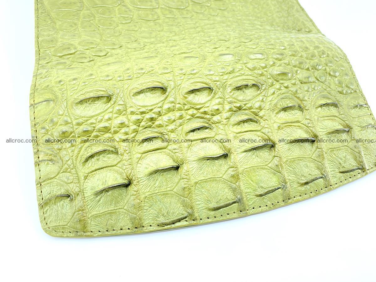 Genuine Crocodile skin trifold wallet, long wallet for women 482 Foto 4