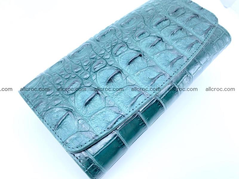 Genuine Crocodile skin trifold wallet, long wallet for women 479