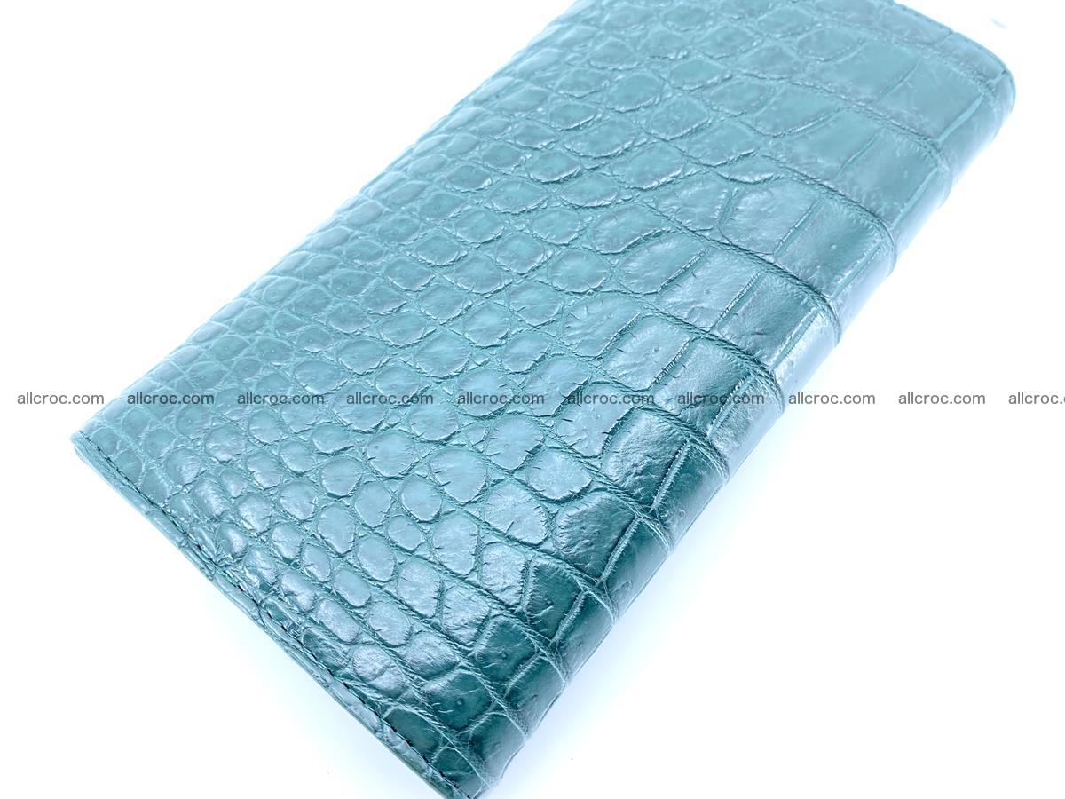 Genuine Crocodile skin trifold wallet, long wallet for women 479 Foto 3
