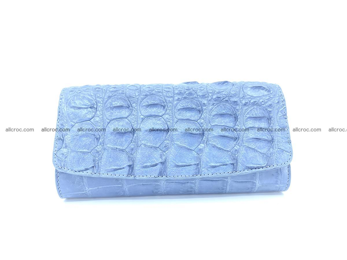 Genuine Crocodile skin trifold wallet, long wallet for women 473 Foto 0