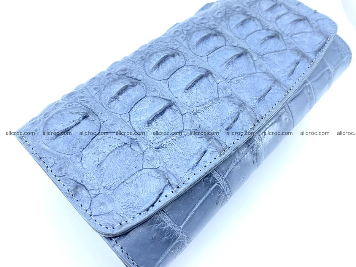 Genuine Crocodile skin trifold wallet, long wallet for women 473 Foto 3