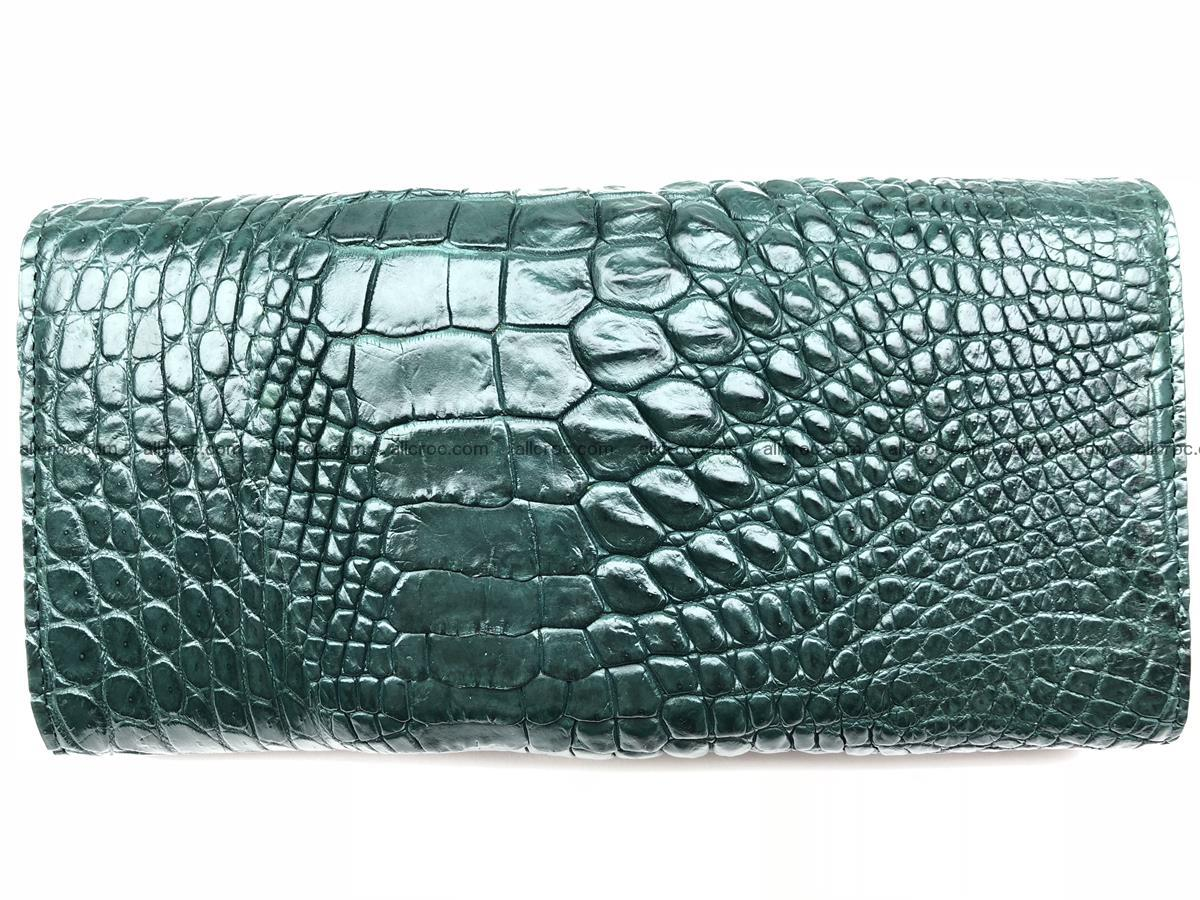 Crocodile skin trifold wallet, long wallet for women 478 Foto 1
