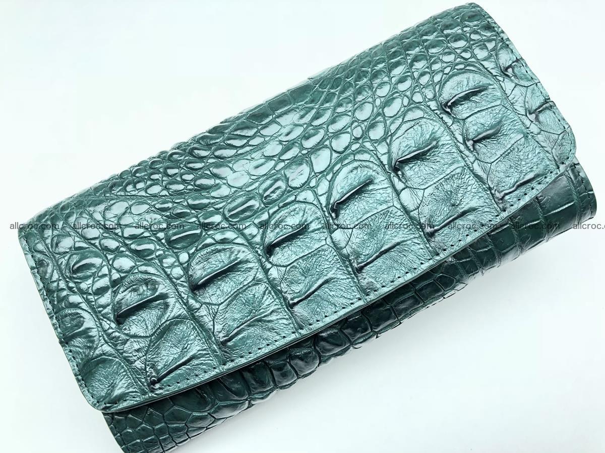Crocodile skin trifold wallet, long wallet for women 478 Foto 2