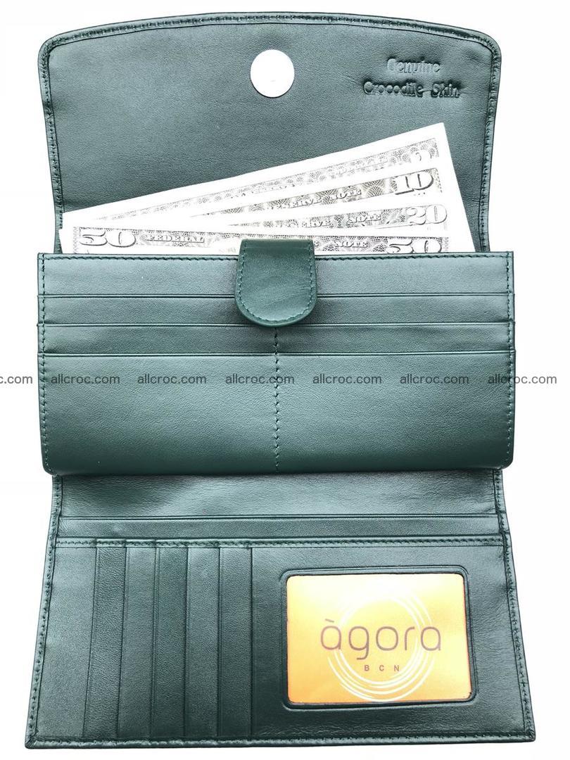 Crocodile skin trifold wallet, long wallet for women 478 Foto 5