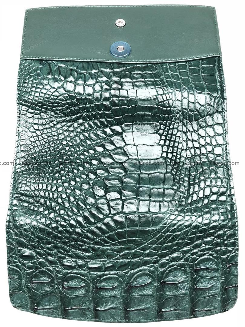 Crocodile skin trifold wallet, long wallet for women 478 Foto 7