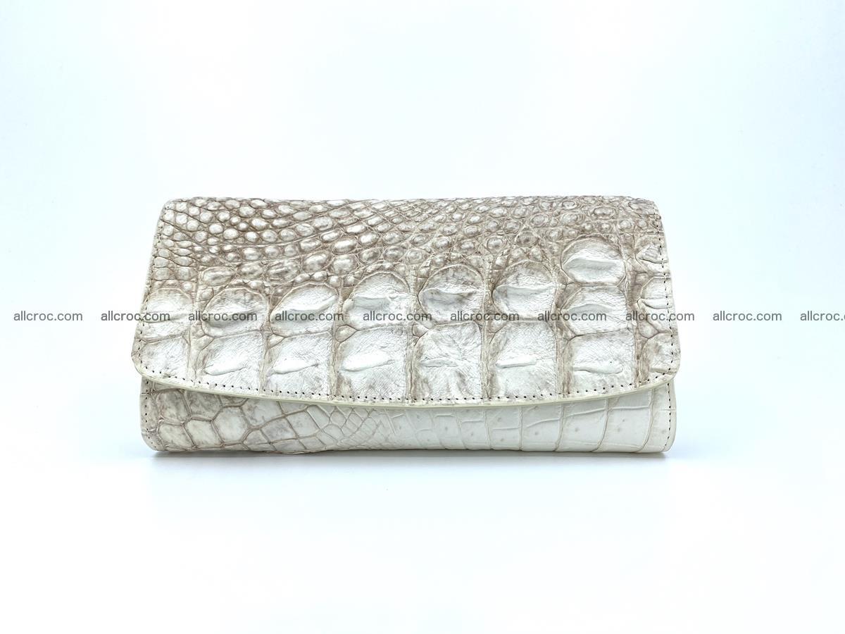Genuine Crocodile skin trifold wallet, long wallet for women 458 Foto 0